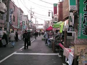 1月16日朝。人通りもまばらでした。