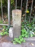 おまけ。小田急線参宮橋駅前に陸軍省所轄地標石がありました。
