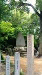 名古屋市南区富部神社境内の戸部新左衛門の碑