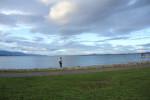 琵琶湖 釣りをする人