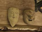 嶬峨にある八坂神社のお面