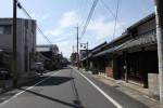 水口宿百軒長屋跡付近の東海道
