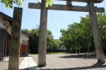 水口宿。藤栄神社社標