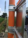 大田地区の大山灯籠の説明樺の設置の工夫