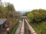蹴上発電所への送水管