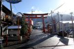 岩屋神社の赤い鳥居