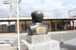 八幡市駅前エジソンの胸像(後)