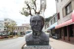 八幡市駅前エジソンの胸像(前)