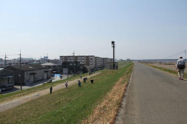 淀川ぞいの道