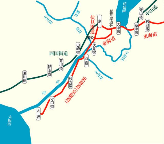東海道57次 4宿 略図