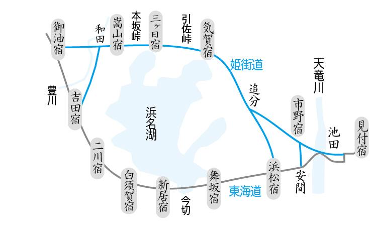 姫街道ルート図