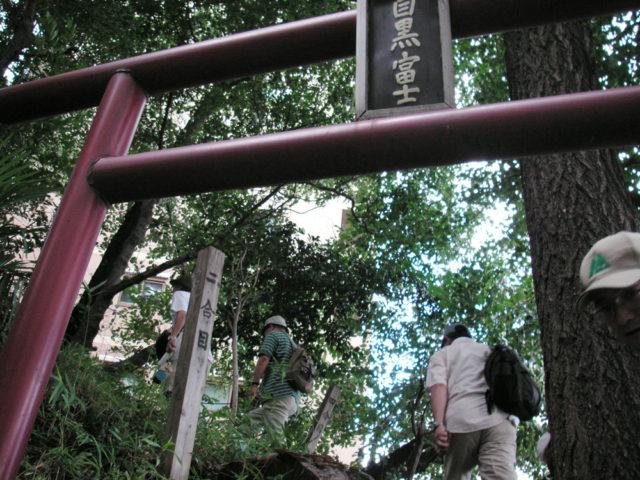 氷川神社の富士塚 目黒富士
