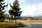 山内一豊陣跡。「黒字胴白に土佐柏」の陣旗(関ヶ原町歴史民俗資料館で購入した「関ヶ原合戦帳」、大助かりです)が立てられています。