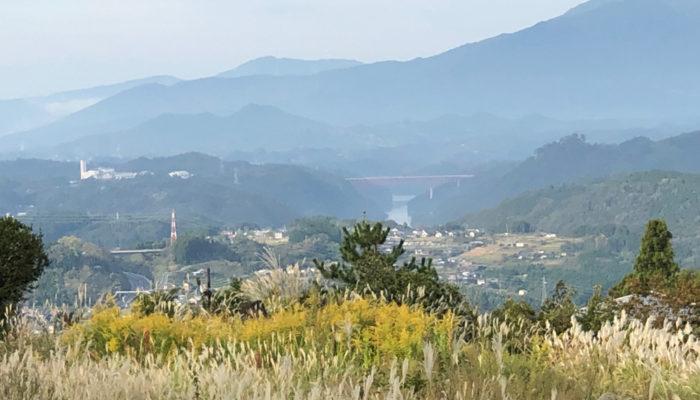 こちらも。馬籠宿西。木曽川が見えるビューポイント。