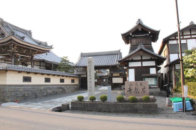 垂井宿にある本龍寺。松尾芭蕉が冬ごもりをした。