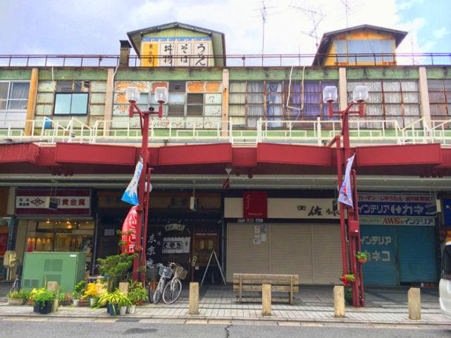 大垣の駅前通の商店街