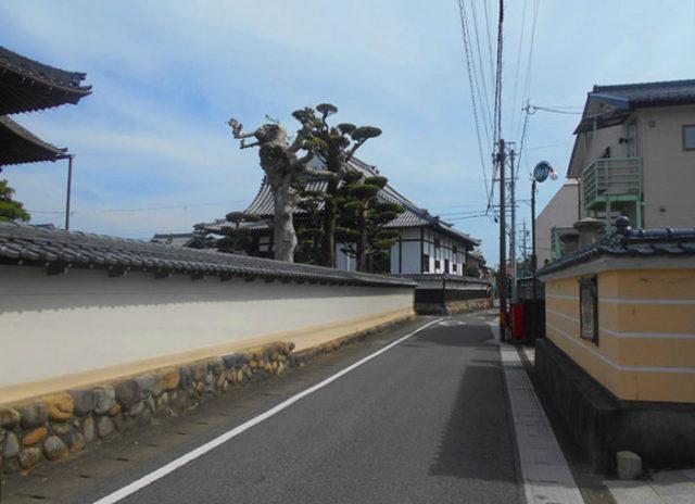 墨俣宿の寺町。6つのお寺があります。