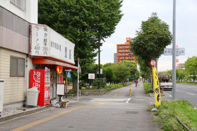 熱田神宮公園前の美濃路
