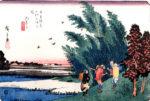 中山道 55宿 美江寺 広重 浮世絵