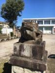 新加納の日吉神社には狛犬ではなく狛蛙