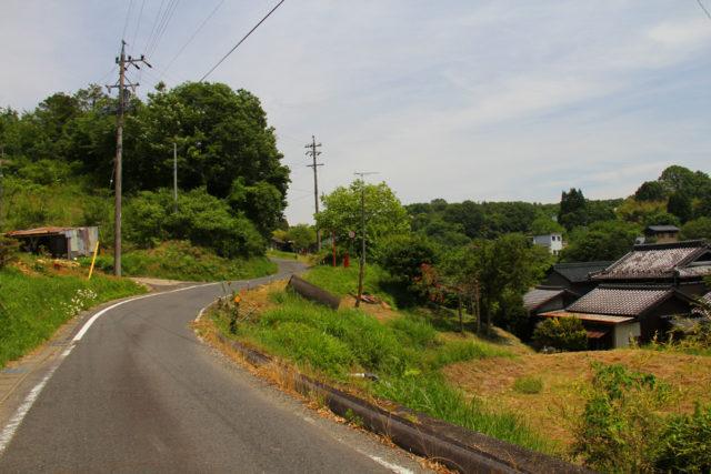 平岩地区の中山道(瑞浪市)