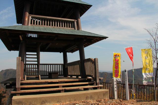 城山山頂の展望台