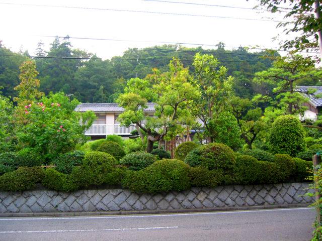 大山街道から荏田城趾方面を望む