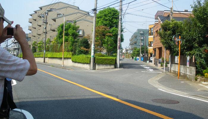 宮崎で王禅寺道が大山街道が分岐する