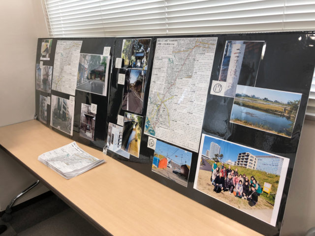 昨年のみちおこし委員会で歩かれた大山街道「上町〜二子玉川」の写真展示パネル