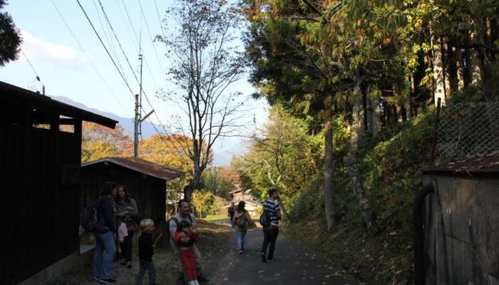 馬籠峠と妻籠宿の間にある山中の集落。のどかな感じがいい
