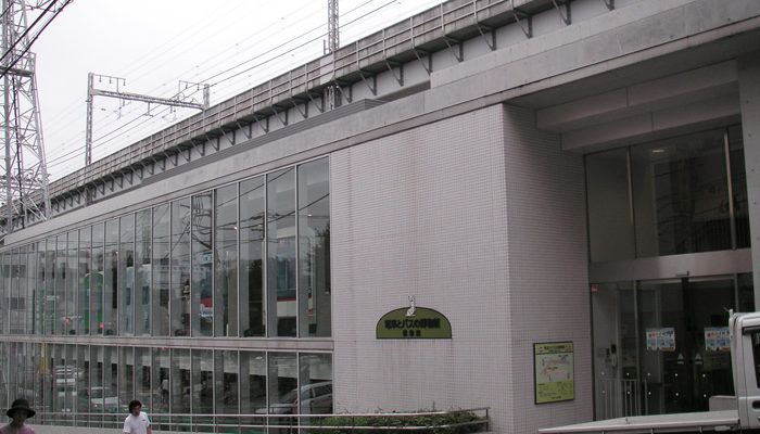 宮崎台駅には電車とバスの博物館がある