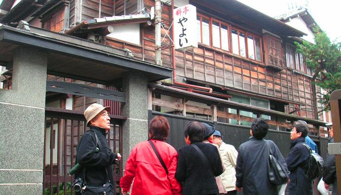 三業地二子新地にある料亭やよい。大正から昭和にかけて賑わった