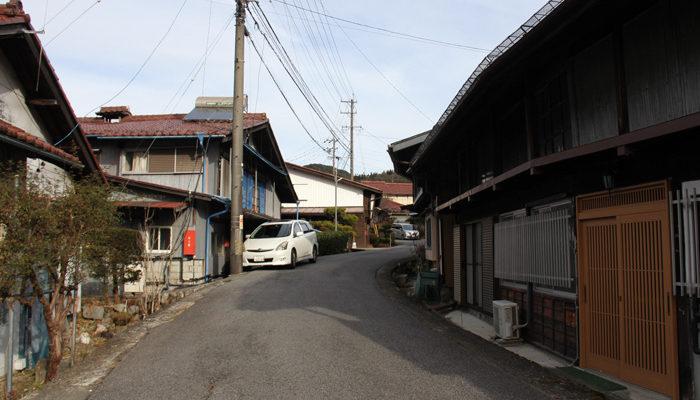 荻原集落の中山道