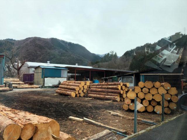 上松の木材工場