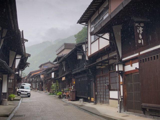 中山道 奈良井宿の町並み