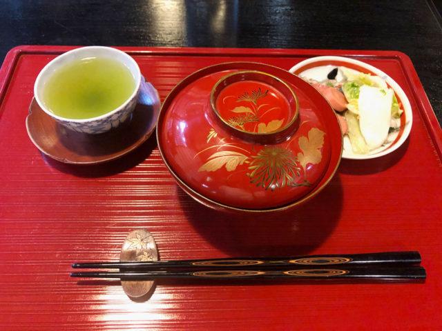中山道 奈良井宿でぜんざい