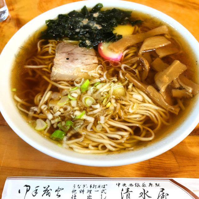 中山道 藪原宿 清水屋食堂さんの中華蕎麦