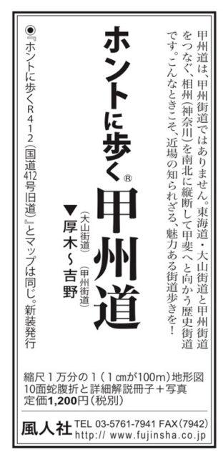 東京新聞サンヤツ 2020年6月29日 甲州道