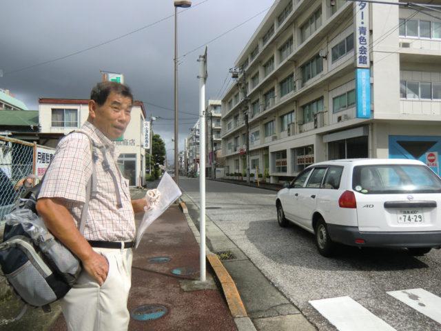 2011年9月17日 羽尾通り大山道の現調。小田原駅近く