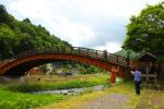 奈良井川に架かる「木曽の大橋」