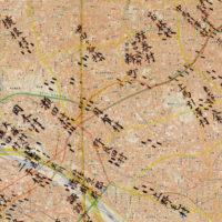 用賀付近の大山街道 伊能図と現代図を重ねた