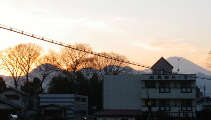 松田駅から富士山と矢倉岳