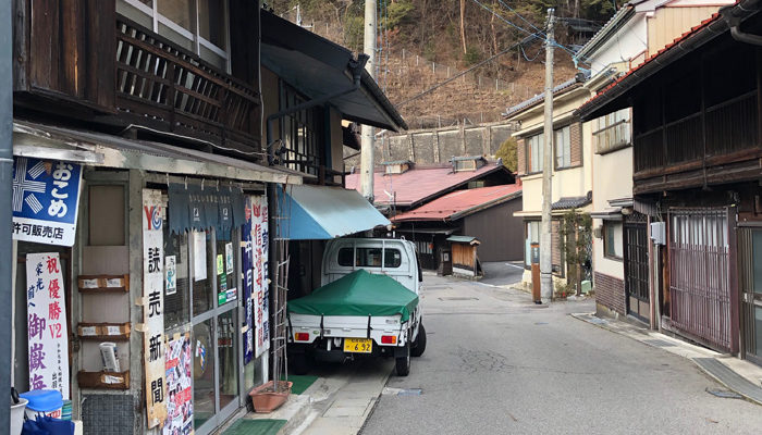 上松宿上町(こうまち)の中山道