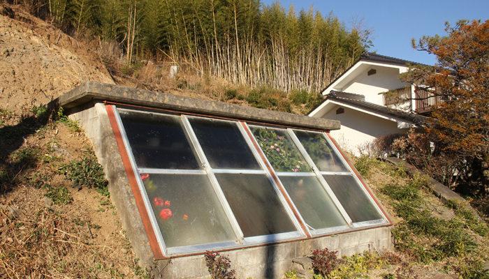 こういう温室を佐久ではよく見る