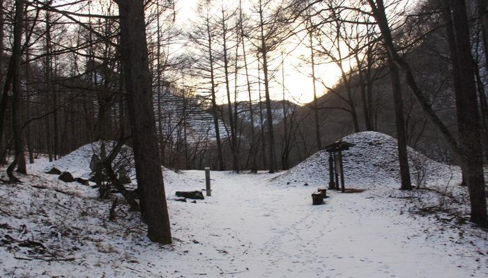 雪の時の唐沢一里塚