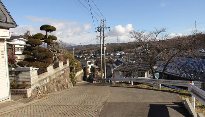 茂田井、石割坂は急