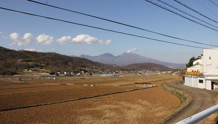 浅間山が見える