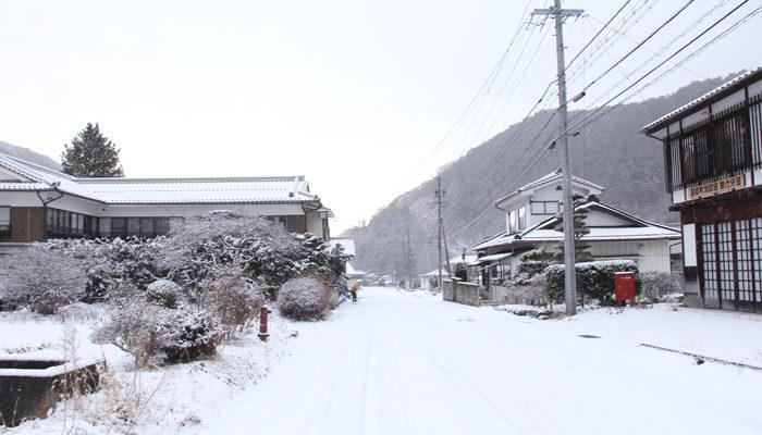 和田中組あたり。12月の雪の日