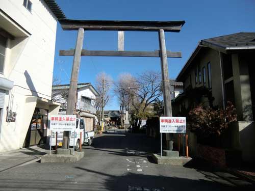 船喜田神社の鳥居。